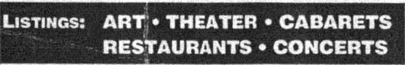 Listings – May 25, 1991