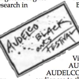 AUDELCO Black Arts Festival '91