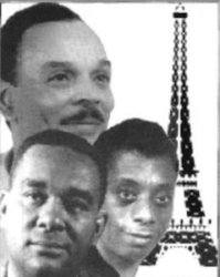 Novelists (Top, Chester Himes), (Bottom L-R) Richard Wright  & James Baldwin