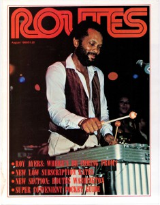 cover from Routes August 1980 Roy Ayers