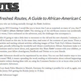 "New And Refreshed ""Routes, A Guide to African-American Culture"""