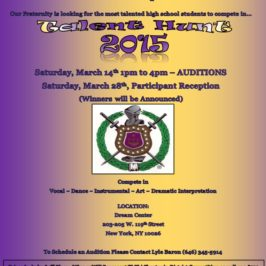 "Omega Psi Phi Fraternity, Inc. Xi Phi Chapter – ""Talent Hunt 2015"""