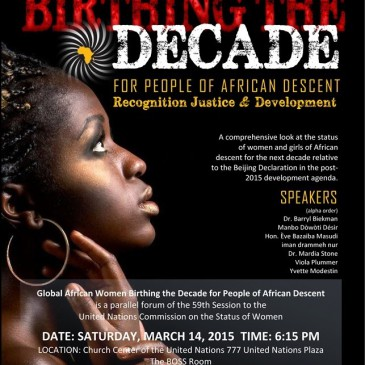 Global African Women Birthing the Decade for People of African Descent