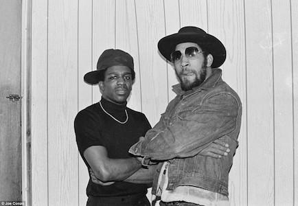 Cold Crush's Tony Tone poses up alongside Kool Herc. Photo by Joe Conzo