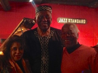(L-) Kim Weston-Moran, Randy Weston, Ronn Bunn (Photo by Perri Gaffney)