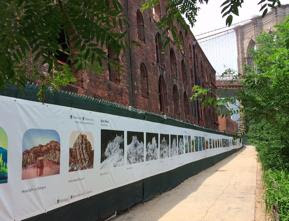 """The Fence"", 1,250 Foot Long, Outdoor Photo Installation, Returns to Brooklyn Bridge Park"