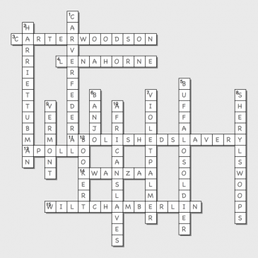 Routes' Crossword Puzzle #1 Solution