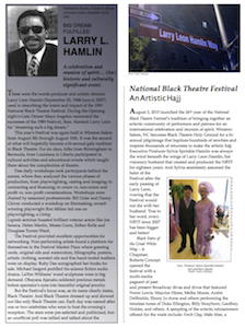 """National Black Theatre Festival"", August 3-10, 2015"