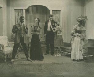 "A scene from the American Negro Theatre's ""On Strivers' Row"" stage production. Collection, Photographs and Prints Division, Schomburg Center, NYPL"