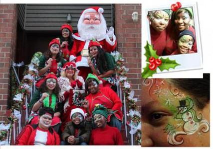 Ms. Santa and friends