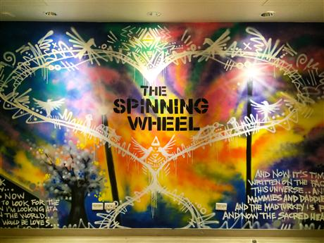 """The Spinning Wheel"" – Street Art Poetics"