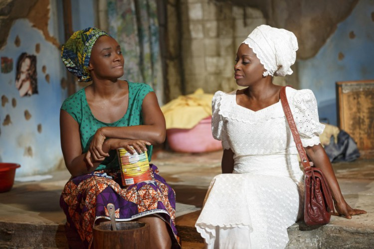 Saycon Sengbloh and Akosua Busia in ECLIPSED, The Public Theater. Photo credit: Joan Marcus.