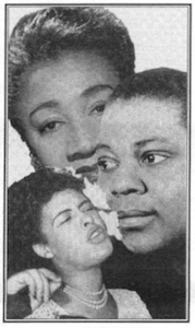 Top: Alberta Hunter L. to R. Billie Holiday, Bessie Smith