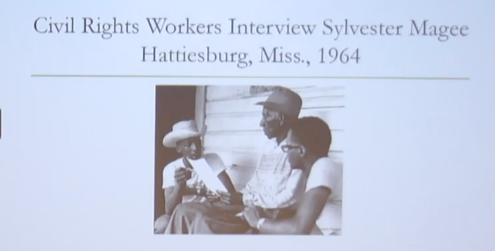 Civil Rights workers interview Sylvester Magee