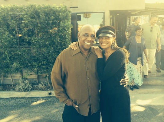Kenneth Reynolds and Susan Taylor, former Editor-in-Chief of Essence Magazine at Post & Beam Restaurant, LA