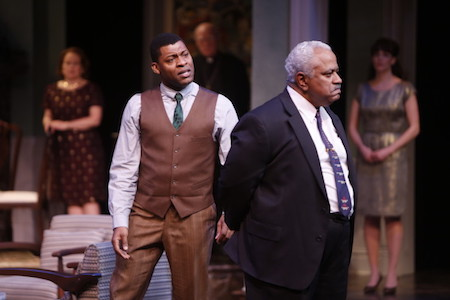 Featuring (L to R): Richard Prioleau as John Prentice, Jr. and Leo Finnie as John Prentice, Sr. ©Photo by Jerry Naunheim Jr.