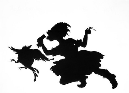 Keys to the Coop, 1997. Kara Walker (American, born 1969). Linocut on paper, 46¼ x 60½ in. (117.5 x 153.7 cm). Brooklyn Museum; Robert A. Levinson Fund, 1997.152. (Photo: Brooklyn Museum)