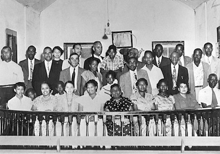 Some of the plaintiffs of the Briggs case and their supporters, 1950 (Courtesy of Cecil Williams)