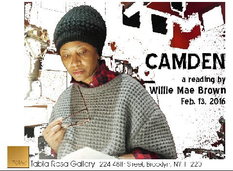 "Free for all – TABLA RASA GALLERY  – Willie Mae Brown reads from her upcoming memoir, ""MySelma!"""