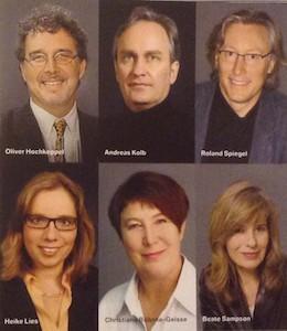 The Jury: Oliver Hochkeppel, Andreas Kolb, Roland Spiegel, Heike Lies, Christiane Böhnke-Geisse, Beate Sampson