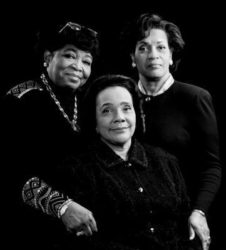 The Wives of Malcolm X(L), Medgar Evers(R) and Martin Luther King Jr.(C)