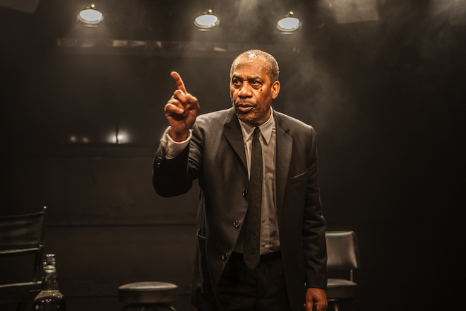 Joe Morton in a scene from TURN ME LOOSE by Gretchen Law, Directed byJohn Gould Rubin