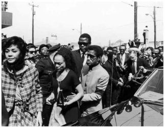 Leslie Uggams, Eartha Kitt, Sammy Davis, Jr., Sidney Poitier at King's Funeral