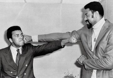 Wilt Chamberlain and Muhammad Ali