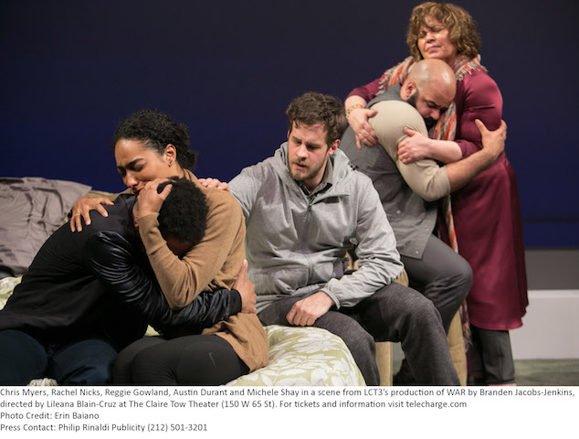 """War"", by Branden Jacobs-Jenkins,  directed by Lileana Blain-Cruz.  LCT3, the Claire Tow Theater, Lincoln Center Theater. Credit Photo: Erin Baiano."