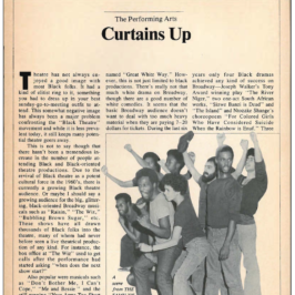 "A. Peter Bailey's ""Curtains Up"": 1977 Black Theaters' State of Affairs"