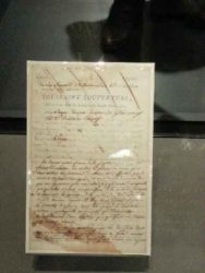18th century letter hand-written by Toussaint L'Ouverture