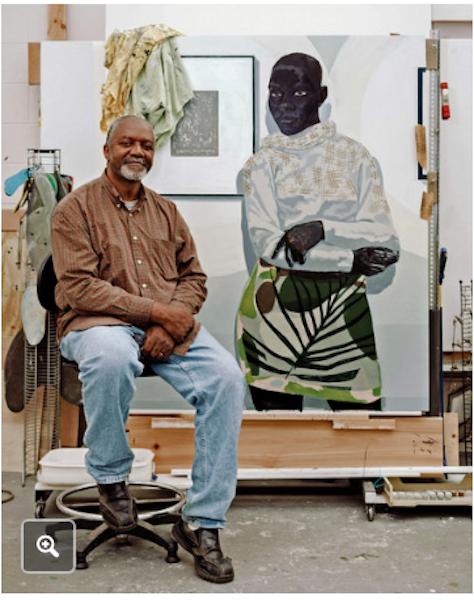 , Artist in his Chicago studio.