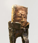 """Robert Sponge"" -  Bronze & Forged Steel 66 x 23 x 13 inches 2008--Jordan Baker-Caldwell"