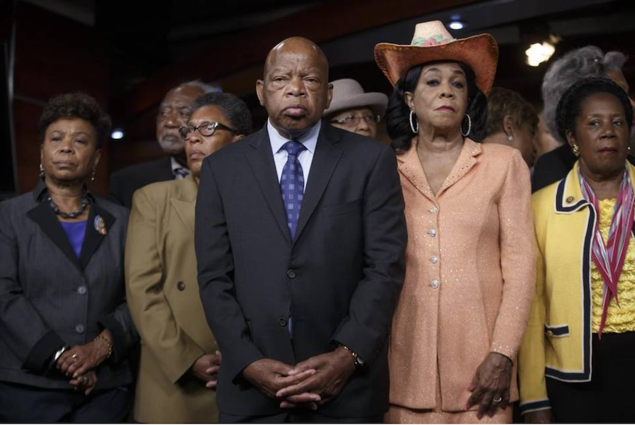 Rep. John Lewis, D-Ga., (center) Congressional Black Caucus (2017)