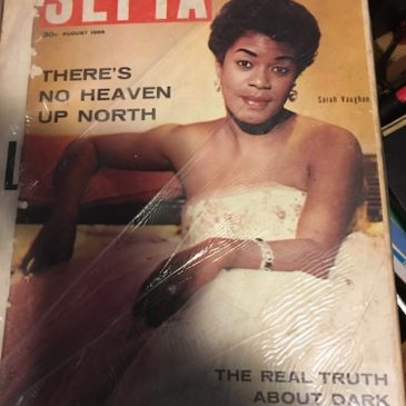 Sepia Magazine Cover – Sarah Vaughan, August 1956