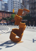 """Ascension"" - Located on 36th St & 9th Ave.-- Corten Steel 108 x 42 x 71.4 inches 2016 by Jordan Baker -Caldwell"