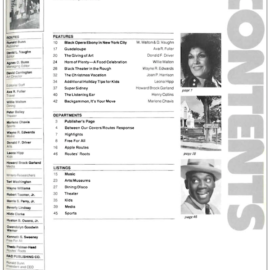 "Routes Magazine December 1977 ""Table of Contents"""