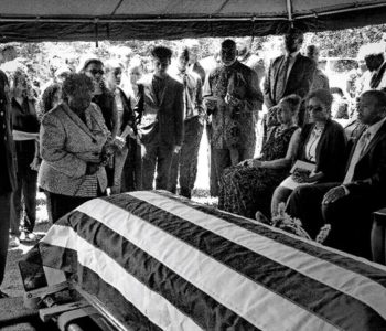 Ultimate Sacrifice: Saying Good-Bye, Virginia, 2017, Black & White Photograph by Ed Sherman