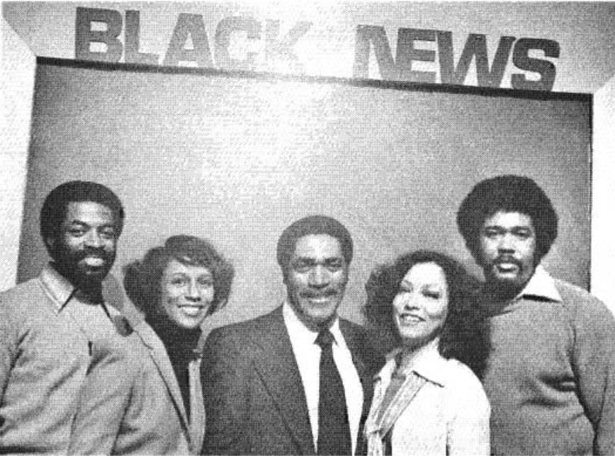 Black News Team: Robert Martin, Producer; Marian Etoile Watson, Arts Editor; Bill McCreary, Anchorman/Executive Producer, Joan K. Harris, Reporter; Rudy Brown
