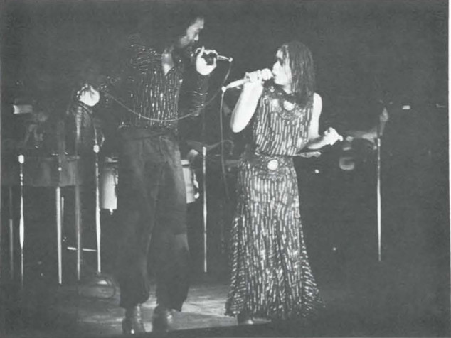 Nick Ashford & Valerie Simpson performing on stage