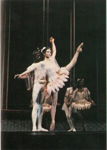 Pas de deux by Lydia Abarca and Ronald Perry in Balanchine's Bugaku.