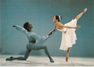 Virginia Johnson and Paul Rusself in Allegro Brillante.