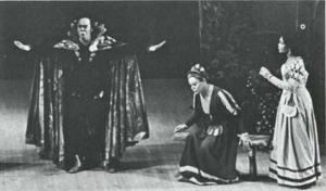 Moises Parker, left as Faust and Benjamin Matthews as Mephisopheles