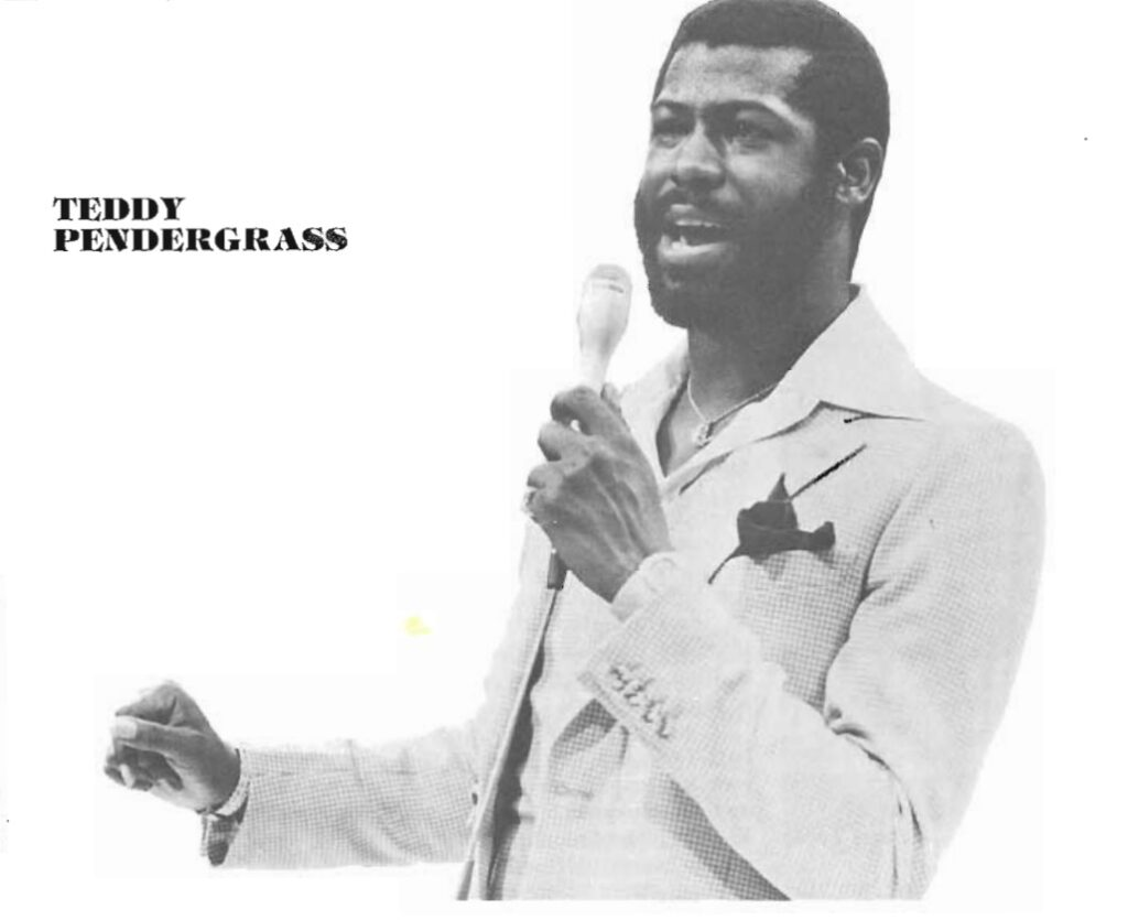 Teddy Pendergrass with Microphone