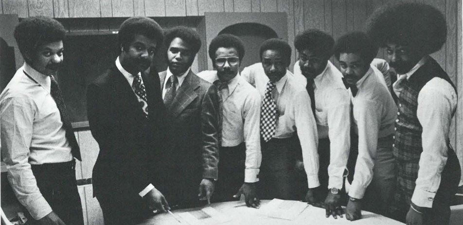 The Best ofFriends: (L-R) Wayne Scarborough, Noel Hankin, Andre Smith, Mal Woolfolk, Charles Perry, Harry Felder, Danny Berry, Tony Cooper.
