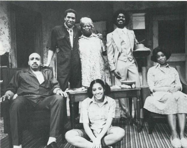 """Livin Fat"" (L-R) William Williams, Earl Miller, Carol Woods, Maurice Carlton, Carol Mitchell Smith, (Front) Joyce Sylvester."