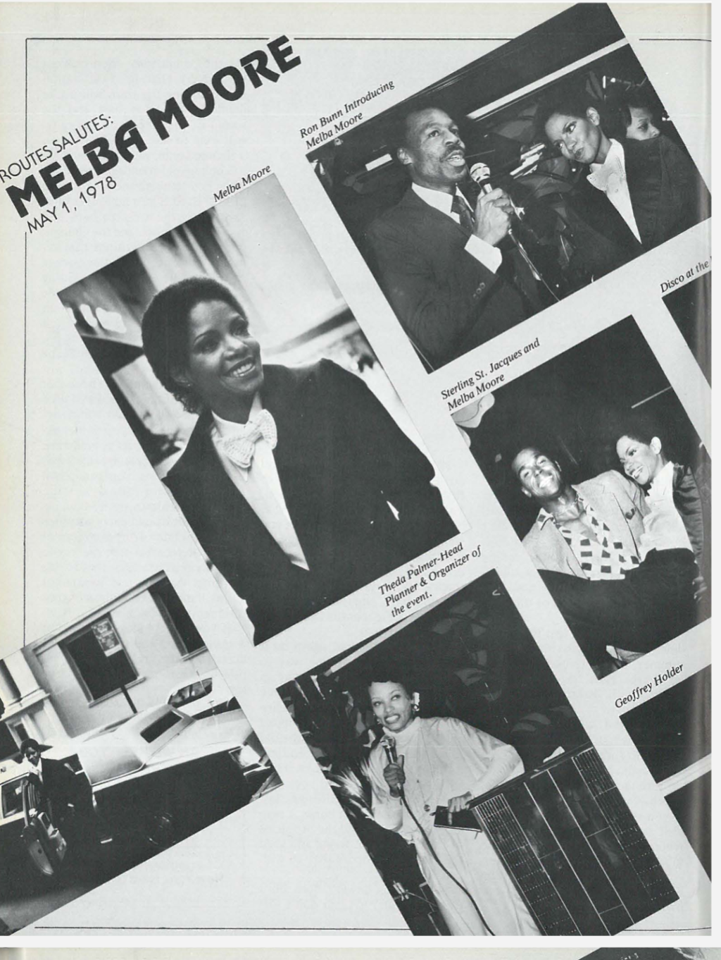 ROUTES Salute to Melba Moore Photo Montage — Ronald Bunn, Melba Moore, Sterling St. Jacques, Theda Palmer-Head, Geoffrey Holder