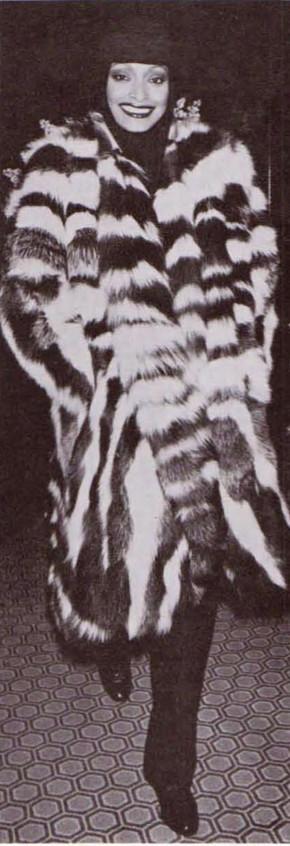 Black and White Fox Piece Coat $4,000