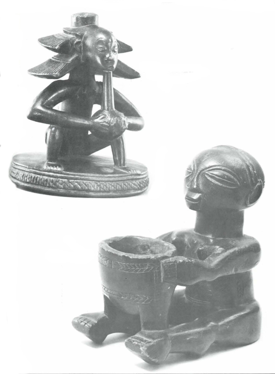 Seated Woman With Water Pipe & Seated Woman with a Bowl