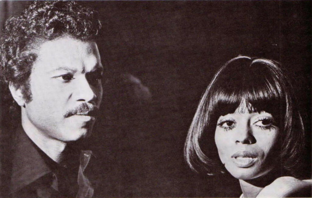 Billy Dee Williams and Diana Ross in Mahogany